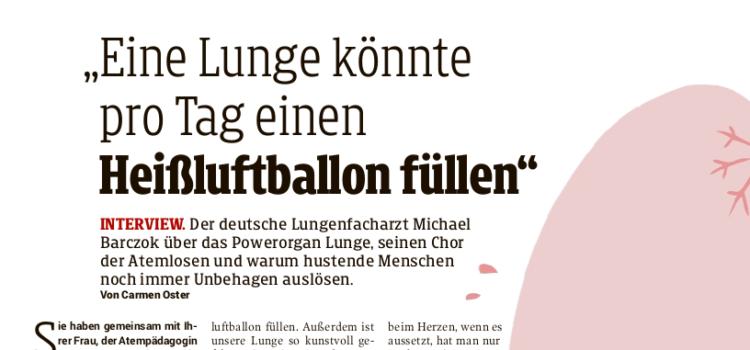 Das Lungenbuch in der österreichischen Presse